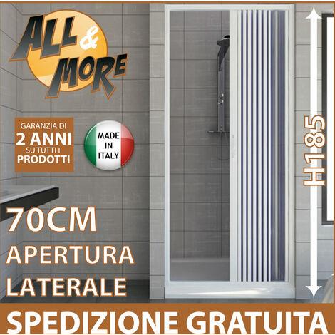 porte paroi de douche en plastique pvc mod vergine 70 cm avec ouverture laterale
