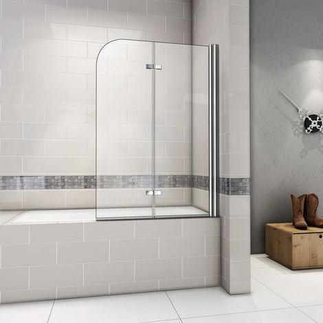 pare baignoire 90x140cm pivotant 180degre sanitaire paroi de baignoire