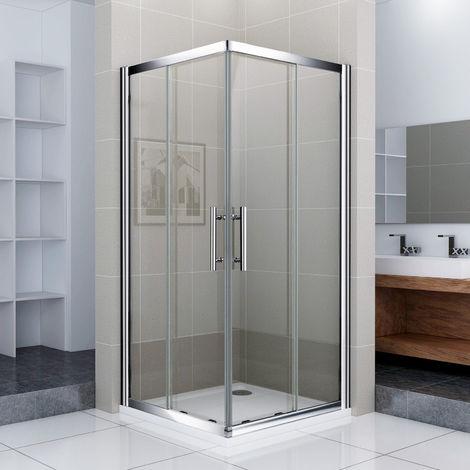 porte de douche 70x70x187cm porte coulissante cabine de douche acces d angle verre securit
