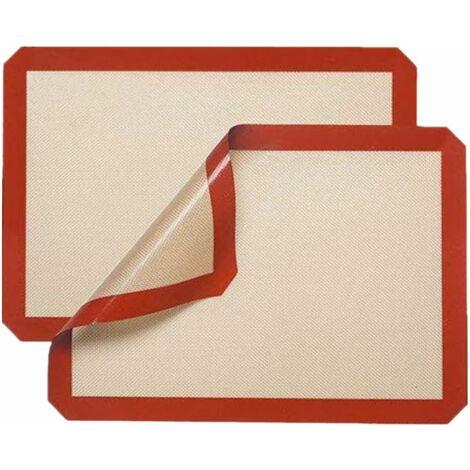 tapis de cuisson en silicone 2 pieces 40x30cm anti adherent reutilisable facilement lavable 100 sans bpa toile de cuisson silicone saine