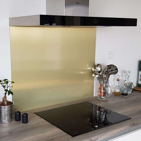 credence aspect or brosse en aluminium composite hauteur 45 cm plusieurs largeurs disponibles