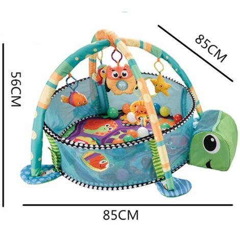 tapis d eveil bebe evolutif pour fille garcon tapis de jeu des la naissance piscine a balles tapis d eveil avec 30 balles bebe