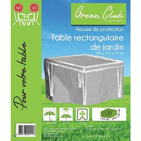 housse de protection table de jardin rectangulaire haute qualite polyester l 180 x l 110 x h 70 cm couleur anthracite anthracite