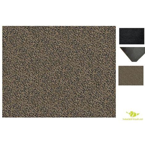paillasson lavable madeinnature tapis d entree tres absorbant lavable en machine tailles au choix granit gris beige 40x60cm