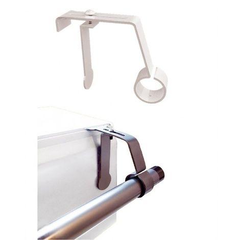1 support de tringle a rideaux o 16 a 20mm sans percage pour coffret volet roulant coloris blanc blanc