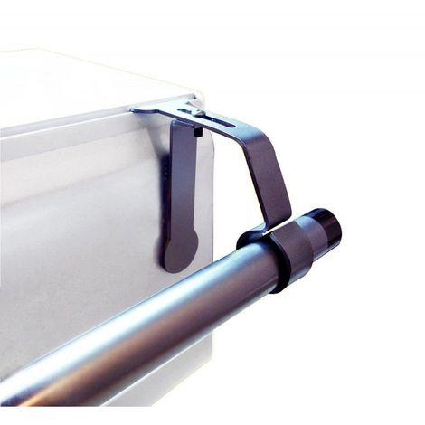 1 support de tringle a rideaux o25 a 28 mm sans percage pour coffret volet roulant coloris nickel mat nickel mat
