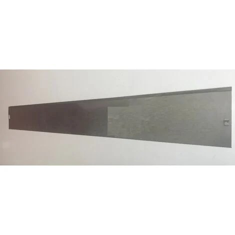 bordure de jardin pleine acier galvanisee 120x14 cm