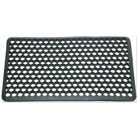tapis caillebotis caoutchouc bord brise hexagone 40x60cm