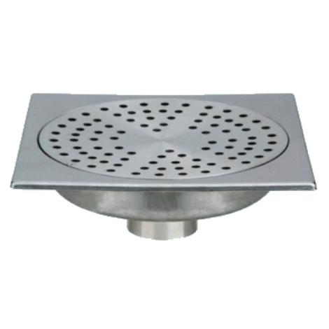 siphon de sol inox solusec 200x200 mm sortie verticale o50