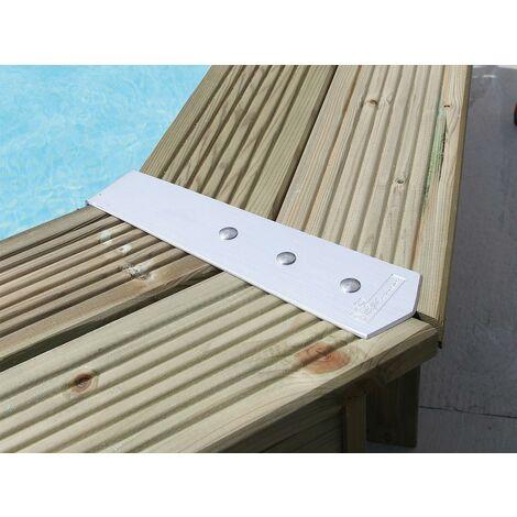 kit finition margelles pour piscine bois octogonale ou hexagonale ubbink