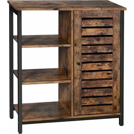 vasagle meuble de rangement meuble de salle armoire de rangement style industriel buffet 3 niveaux pour salon chambre couloir cuisine 70 x