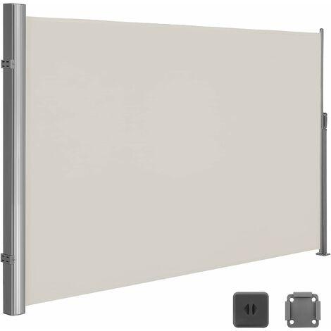 store lateral 350 x 180cm abri soleil paravent exterieur retractable exterieur brise vue pour terrasse 280 g m polyester beige gsa185e beige