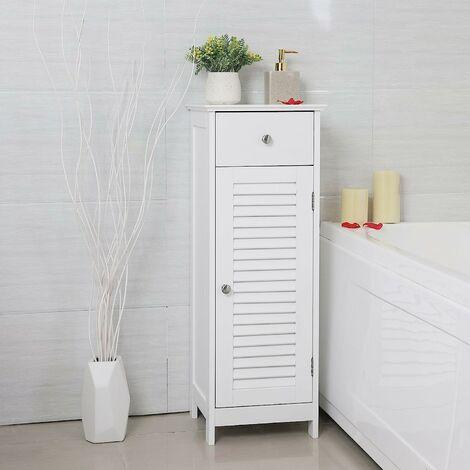 vasagle meuble de salle de bain sur pied meuble de rangement armoire d angle 1 tiroir 2 casiers blanc par songmics bbc43wt weiss