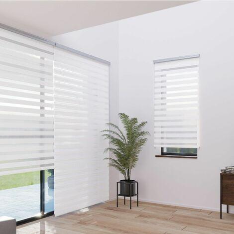 store enrouleur jour nuit tamisant coffre must blanc l64 x h220cm blanc