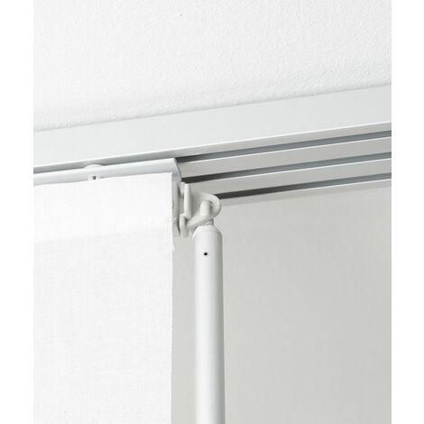 rail aluminium blanc pour panneau japonais 60 cm blanc l170 x h2 5cm blanc