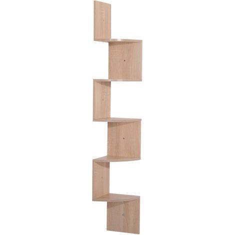 etagere d angle design zig zag 5 niveaux
