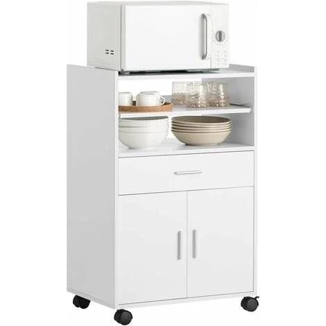 sobuy kitchen wheeled microwave shelf storage cupboard cabinet unit fsb09 w