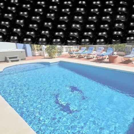 bache a bulle ete 400µ noire pour piscine ronde 3m60
