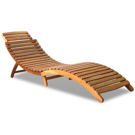 vidaxl chaise longue bois d acacia solide