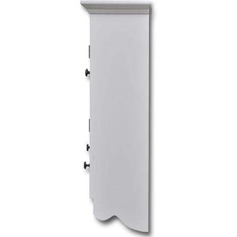 placard mural de cuisine avec porte en verre bois blanc