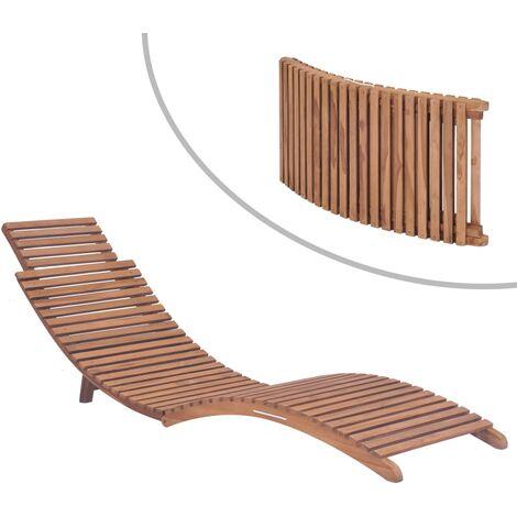 chaise longue basculante bois d acacia