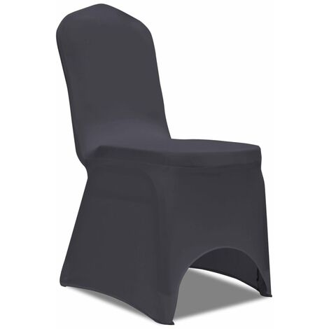 housse de chaise extensible 6 pcs anthracite