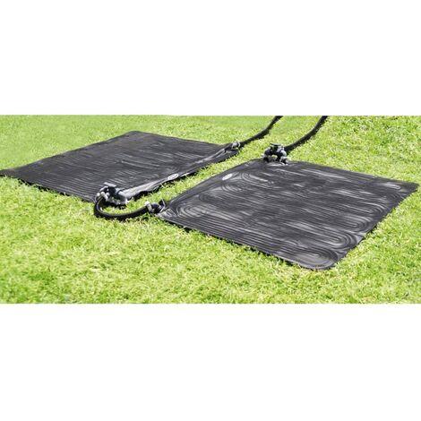 intex tapis chauffant solaire 2 pcs pvc 1 2 x 1 2 m noir 28685