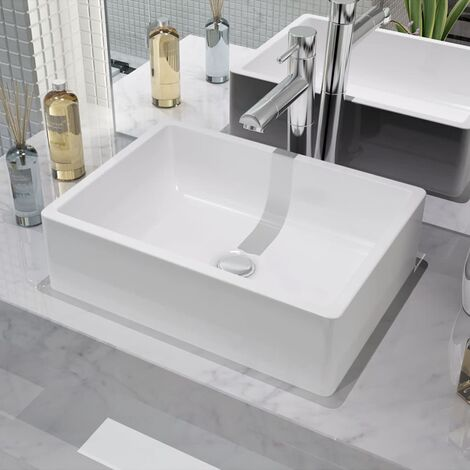Lavabo Ceramique Lave Mains Vasque Evier Pour Salle De Bain Toilette