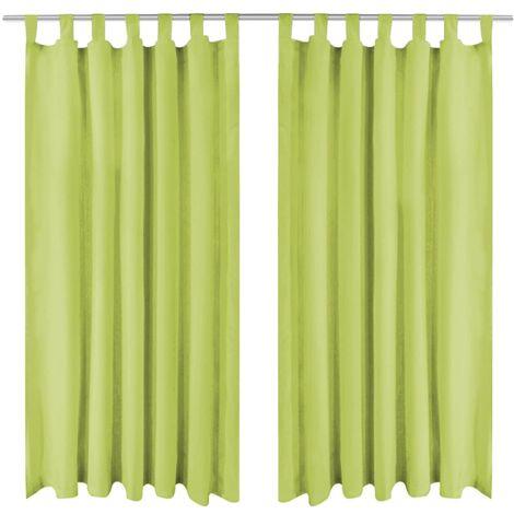 vidaxl rideau occultant avec boucles 2 pcs 140 x 245 cm vert