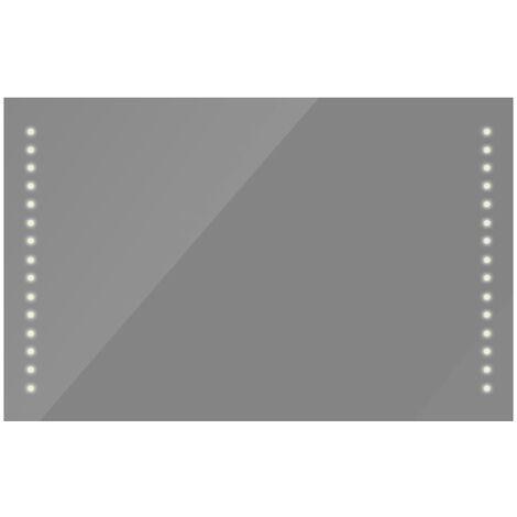 miroir de salle de bain avec lumieres led 100 x 60 cm l x h
