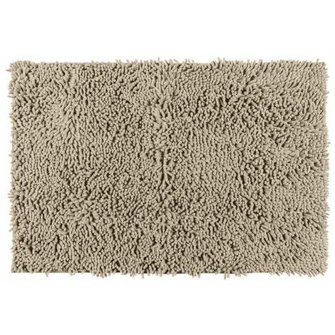 tapis de bain chenille sable