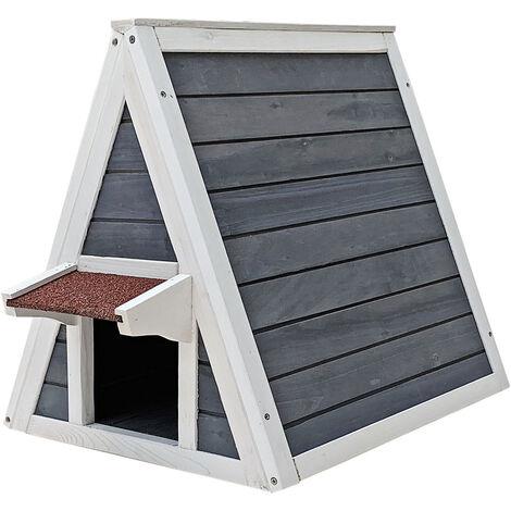 maisonnette pour chat bois resistant 51 x 50 5 x 48 5 cm entree et porte arriere cabane abri niche