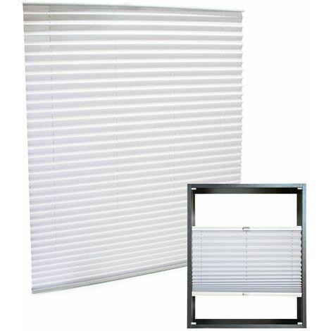 store blanc 45x100cm store plisse pare vue moderne rideau occultant de fenetre persienne