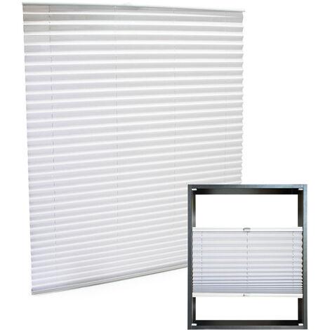 store blanc 60x100cm store plisse pare vue moderne rideau occultant de fenetre jalousie