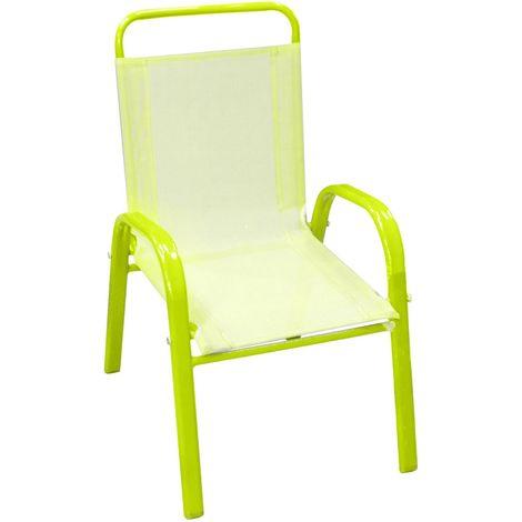 fauteuil de jardin enfant bout chou vert anis vert anis
