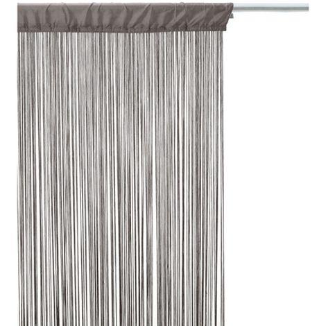 rideau fils 120 x 240 cm gris gris