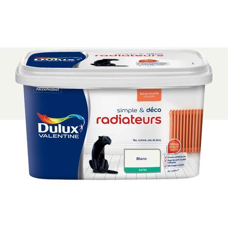 peinture de renovation simple deco radiateurs satin blanc 2 l dulux valentine