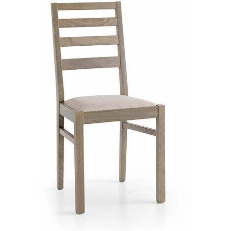Sedie, sgabelli e tavoli di design in legno. Sedia Moderna Di Design In Legno Tortora Con Seduta In Stoffa Tortora Per Arredo Interno Casa