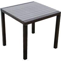 In legno, alluminio o in vetro | acquista su. Tavolo Da Giardino Moderno Di Design Cm 80 X 80 Marrone In Wicker Rattan Sintetico E