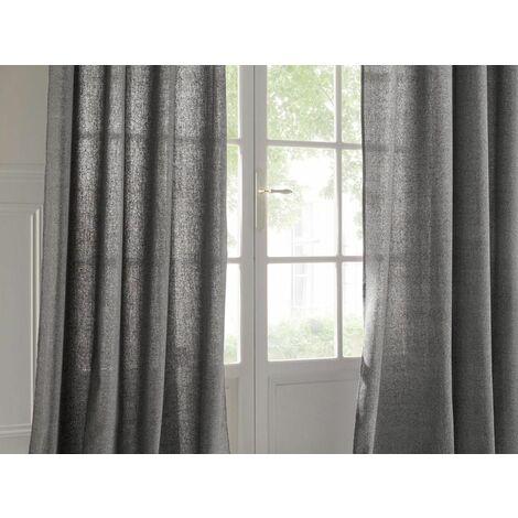 rideau 140 x 262 cm joe esprit recup gris clair atmosphera gris clair