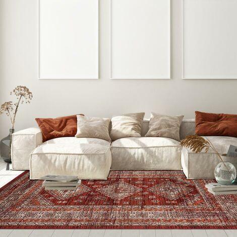 tapis style oriental 80x150 cm rectangulaire af dazor rouge chambre adapte au chauffage par le sol