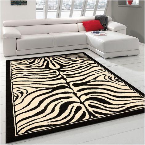 60x110 un amour de tapis petit tapis entree interieur tapis moderne pour salon design zebre noir