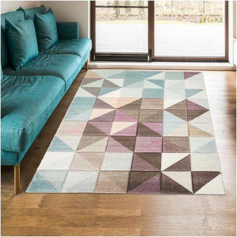 60x110 un amour de tapis marix tapis moderne design tapis salon et entree tapis gris bleu violet marron couleurs et tailles disponibles