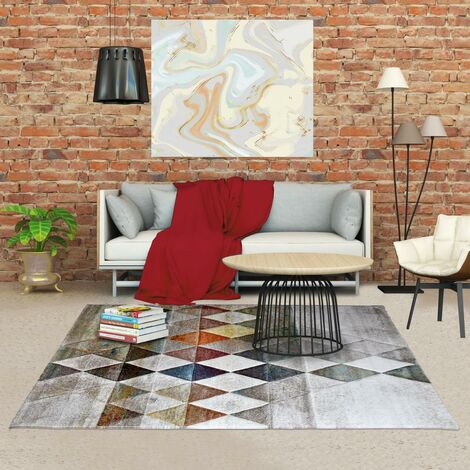 60x110 un amour de tapis petit tapis entree interieur tapis moderne pour salon design geometrique beige