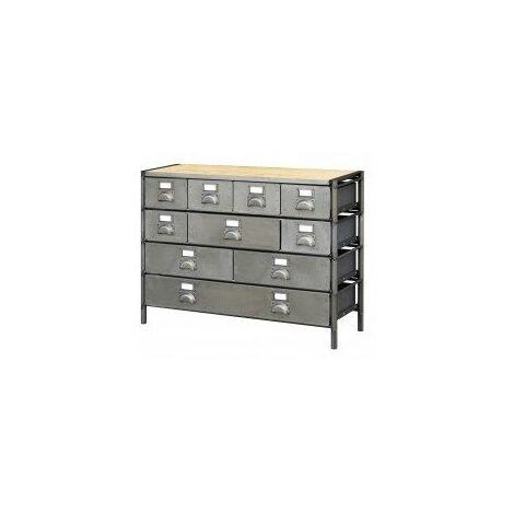 module a facade basculante pour meuble de rangement industriel 1 20m a composer