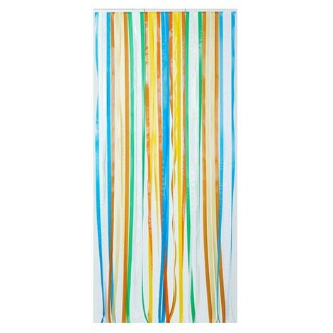 rideau de porte a lanieres antilles multicolore 90 x 220 morel
