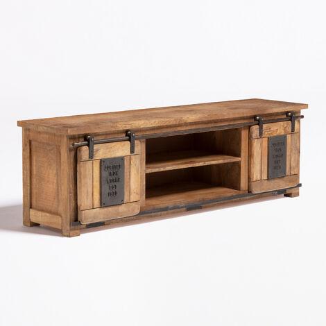 sklum meuble tv en bois de manguier uain bois recycle bois de manguiers madera reciclada