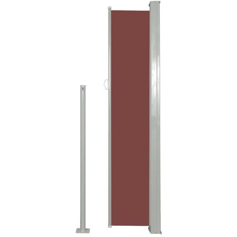 patio retractable side awning 160 x 300 cm brown brown