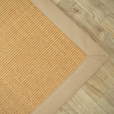 tapis sisal yucatan naturel ganse beige 140 x 200 cm