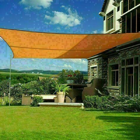 3x2m sun sail shade rectangular awning canopy garden sun patio sunscreen orange
